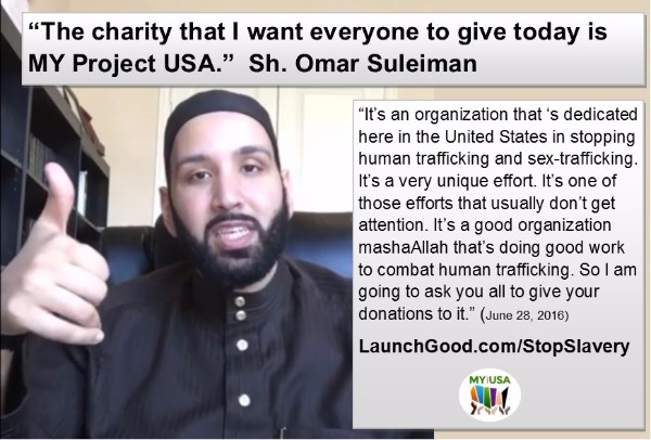 Sh. Omar Suleiman Supports MY Project USA