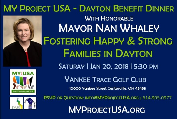 MY Project USA Dayton Benefit Dinner with Mayor Whaley