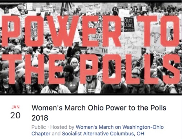 Women's March Ohio - Power To The Polln 2108