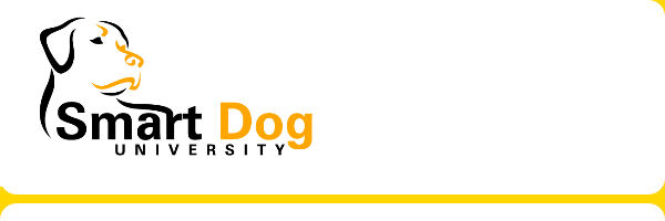 Smart Dog University logo, dog training