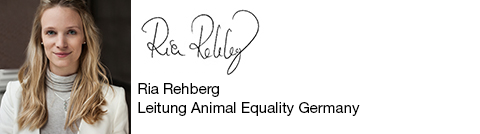 Ria Rehberg - Leitung Animal Equality Germany