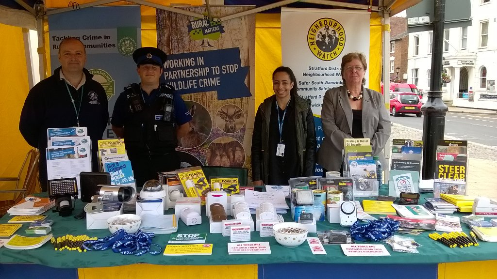 The crime prevention stand seen at Stratford market earlier this year