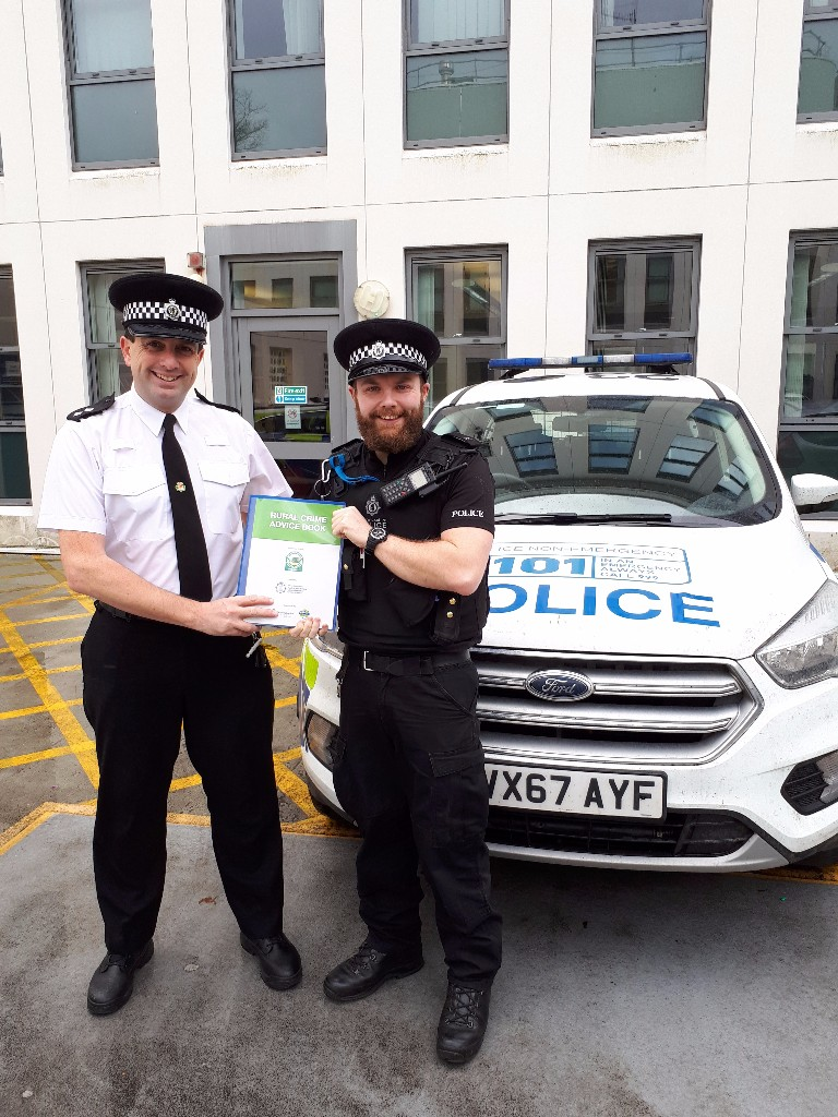 Officers launching the rural crime guide