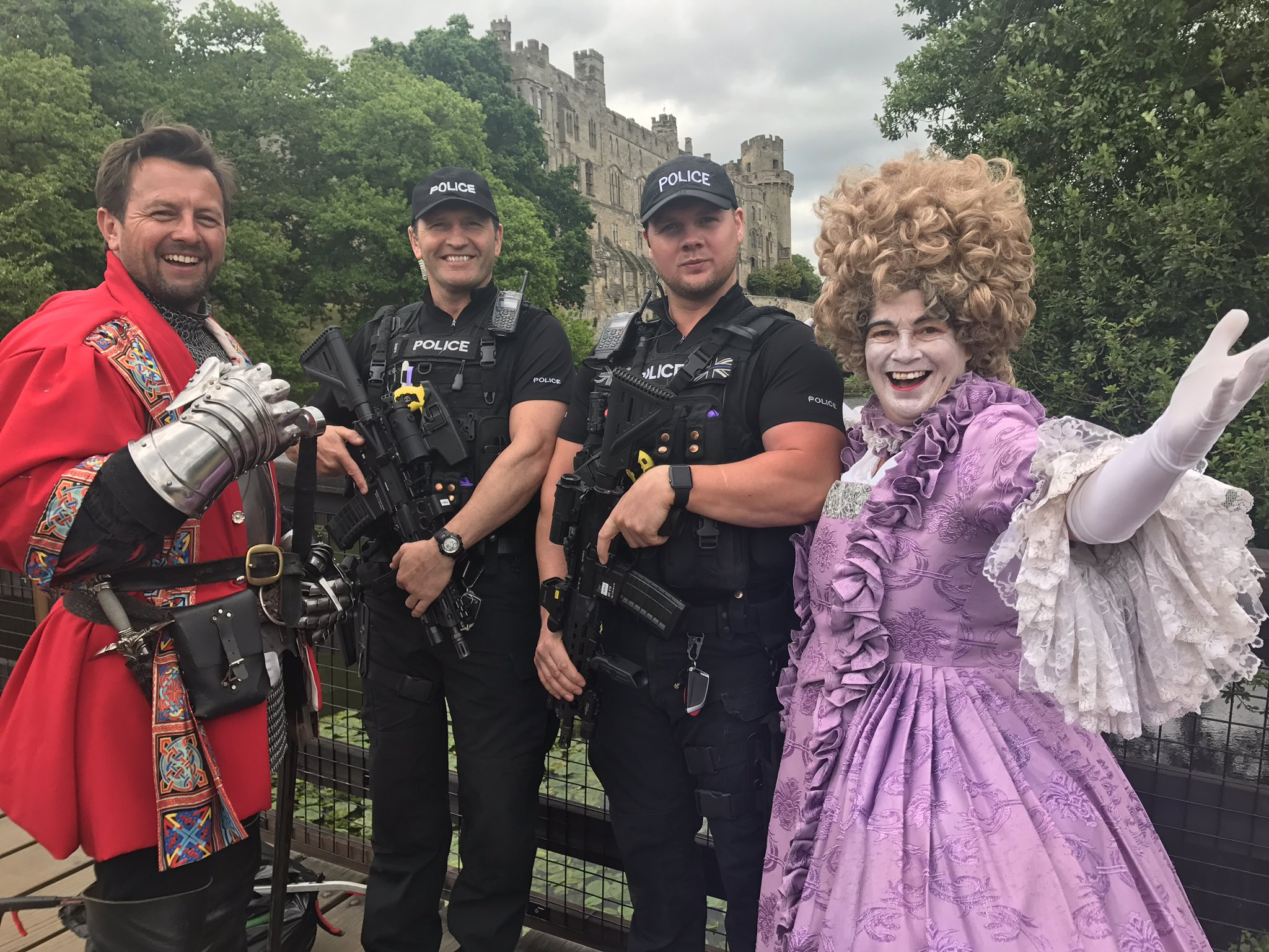 Officers from Worcestershire Operational Policing Unit were on patrol at Warwick Castle