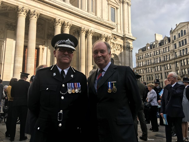 Chief Constable Martin Jelley and Philip at St Paul's Cathedral