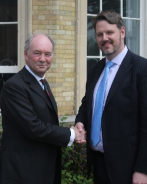 Philip Seccombe with John Campion