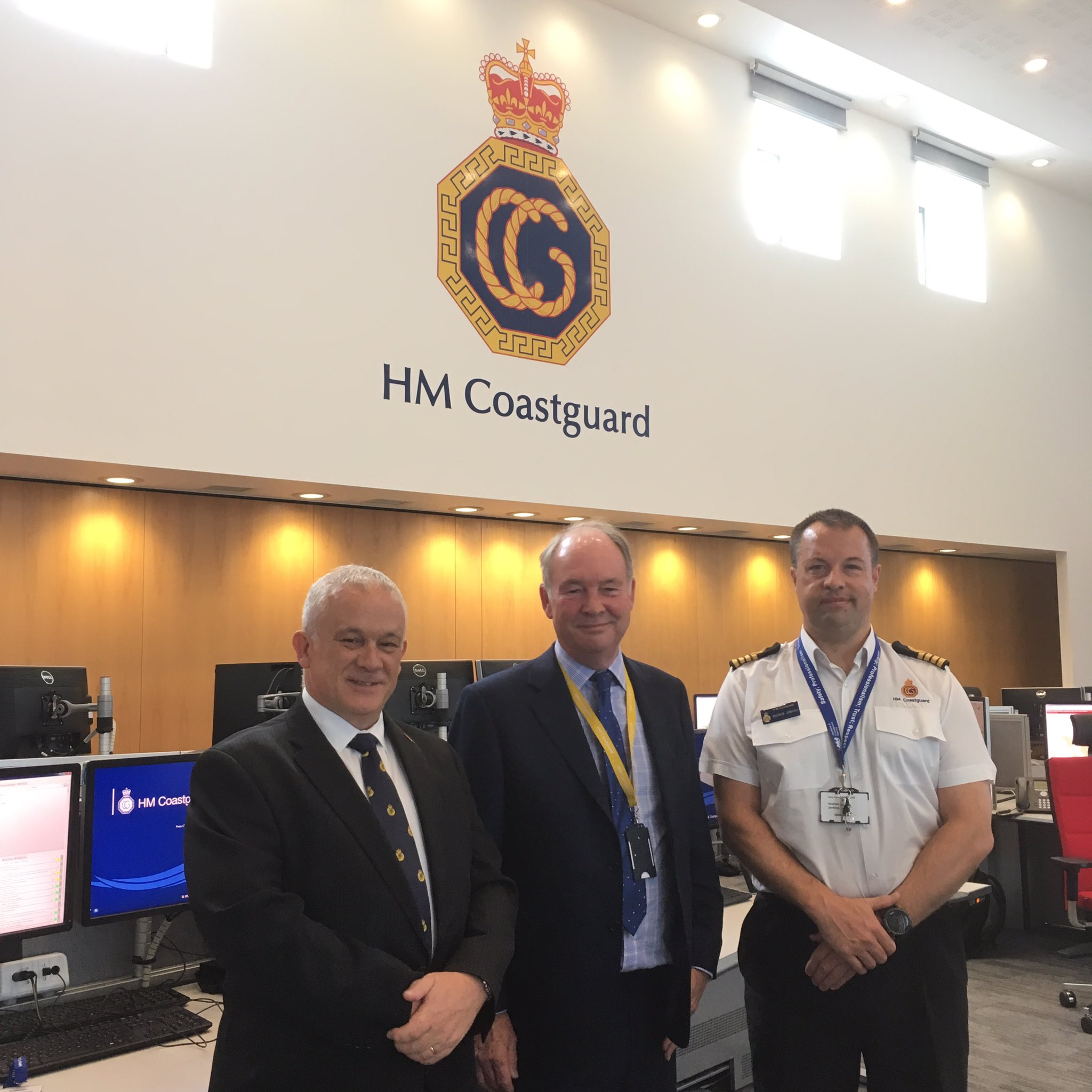 PCC Philip Seccombe at the National Maritime Operations Centre