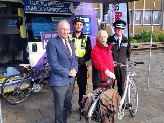 Bike security marking event in Warwick