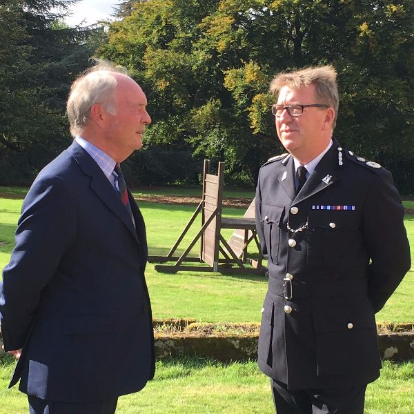 Philip with Chief Constable Martin Jelley