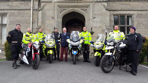 Bike Safe being launched at Leek Wootton with Police and Crime Commissioner Philip Seccombe