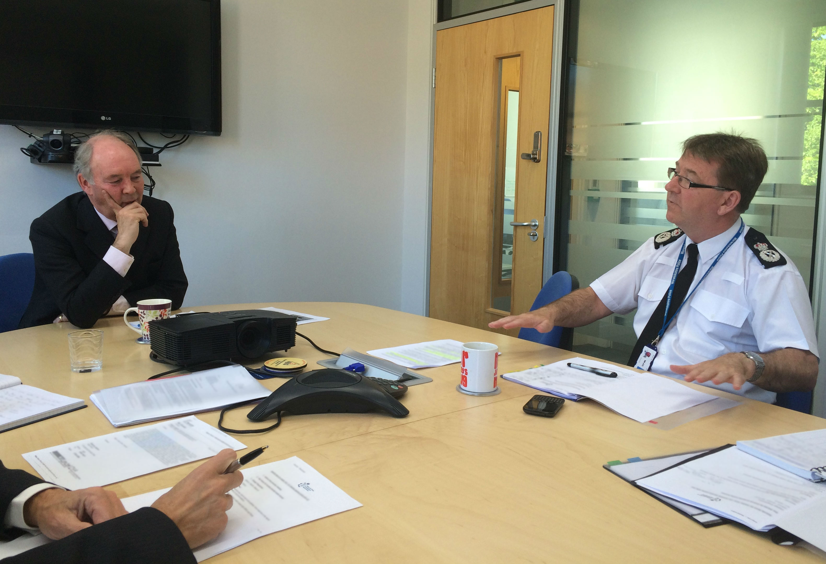 PCC and Chief Constable in discussion