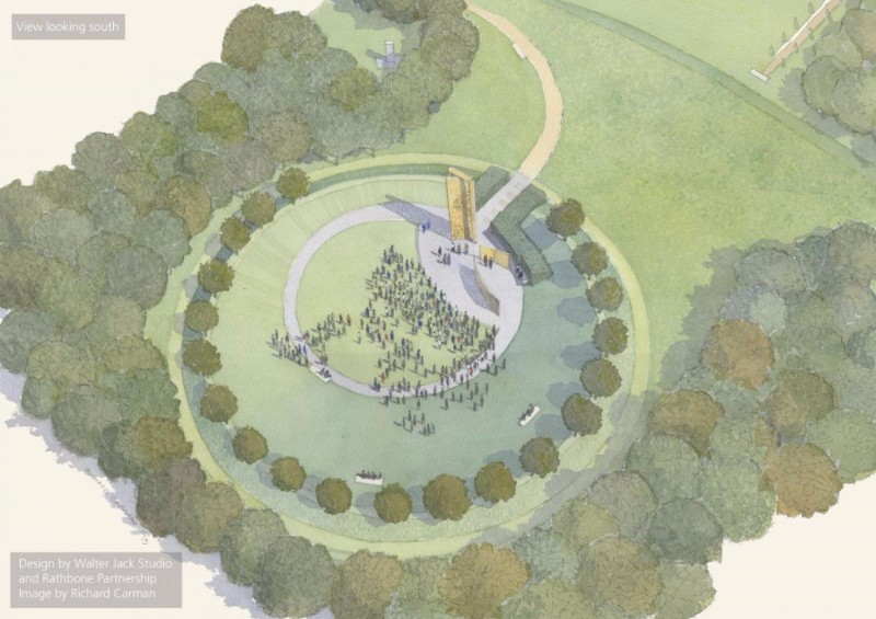 An artist's impression of the UK Police Memorial at the Staffordshire Arboretum
