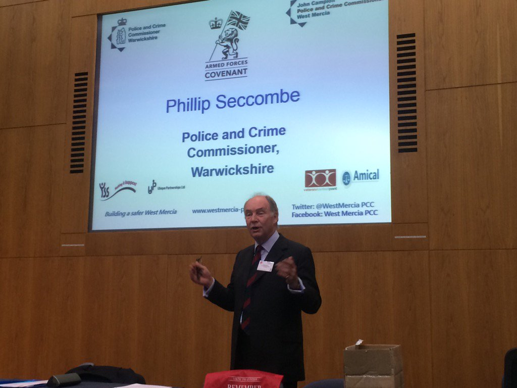 PCC Philip Seccombe speaking at the Remember Veterans launch