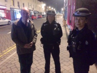 Operation Protect street patrol with Leamington SNT