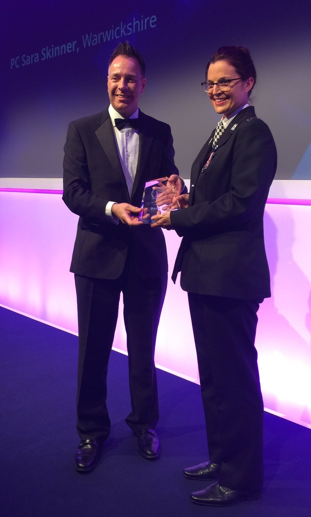 PC Sara Skinner receiving the Midlands Police Bravery award