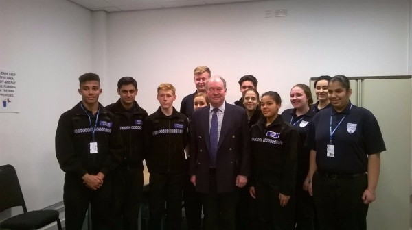 Philip with the North Warwickshire Police Cadets