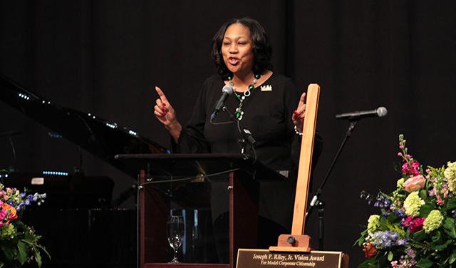 Keynote speaker Joan Robinson-Berry at the MLK Breakfast