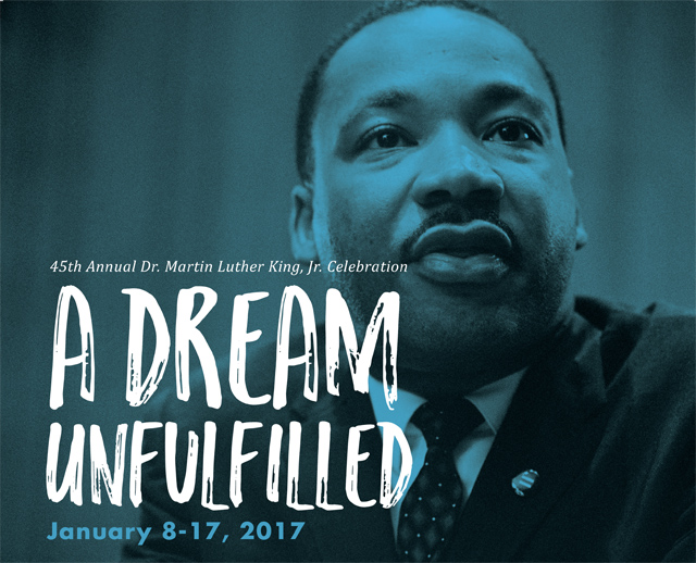 2017 MLK Celebration booklet cover by Marcus Amaker