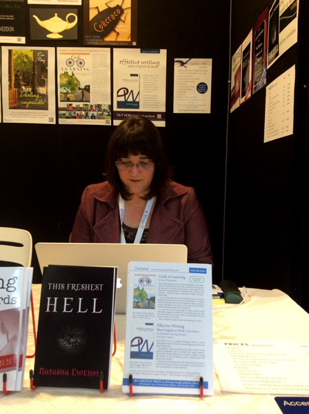Linda, Lacuna stand, Book Expo Australia