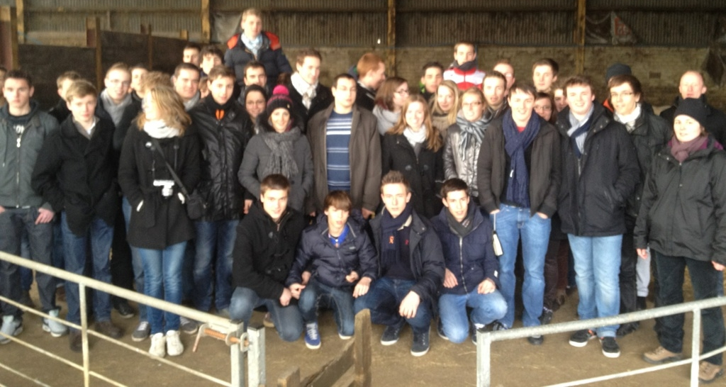 French students at George's farm