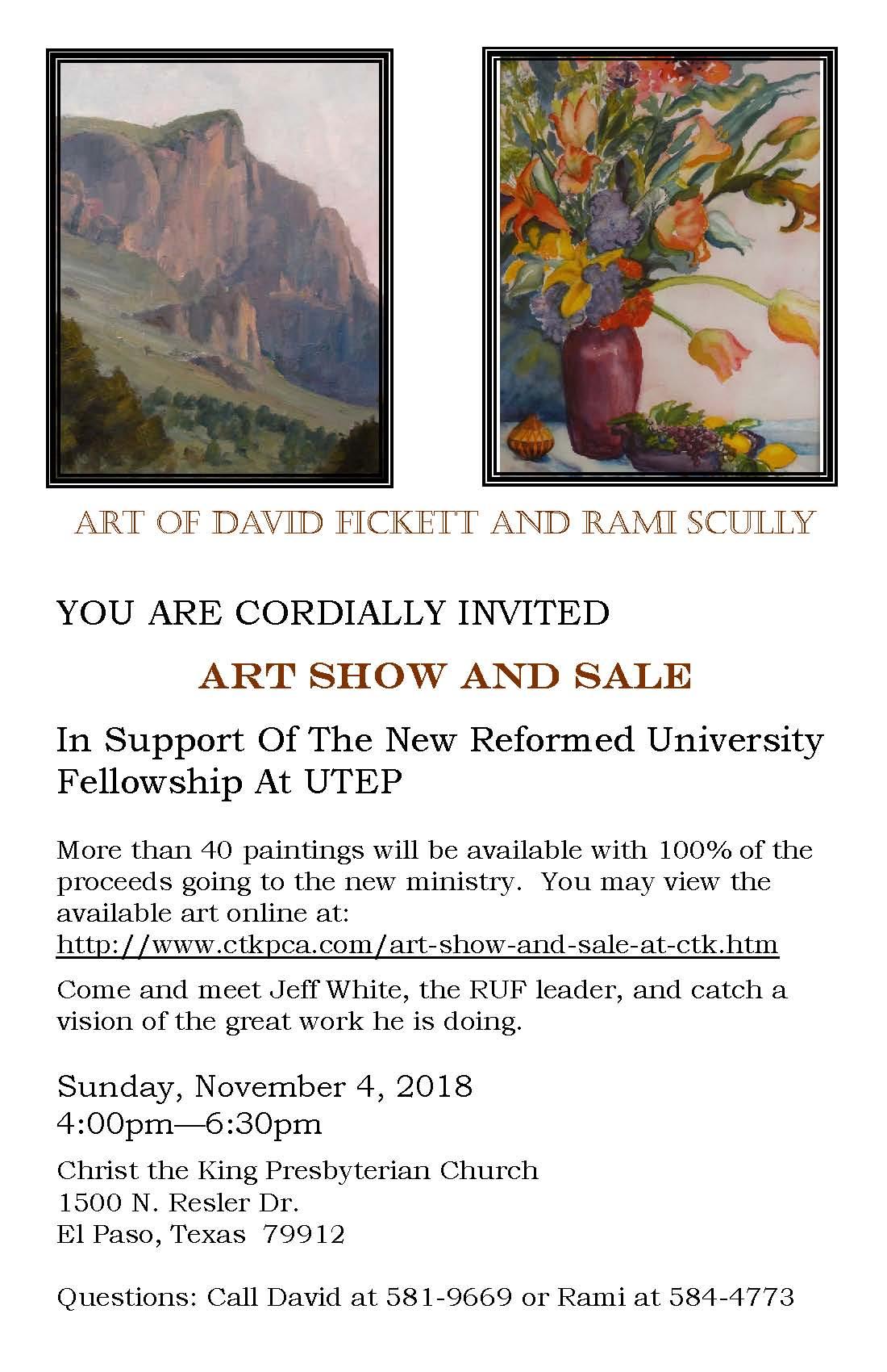 art show and sale nov 4 4pm