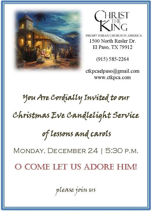 christmas eve service december 24 5:30pm