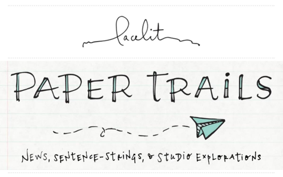 Lacelit's Paper Trails Header