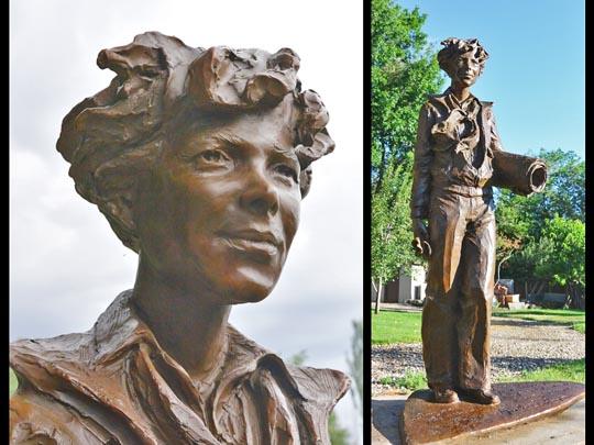 (Image) Amelia Earhart sculpture