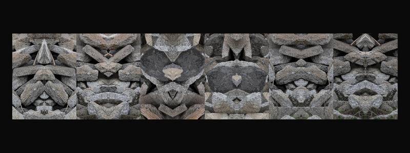 """Charlie Lucke's """"Stone Faces""""."""