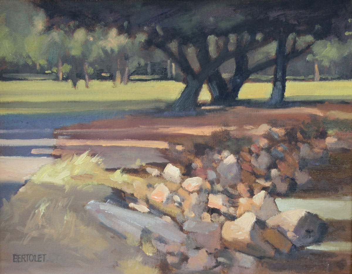 Edwin Bertolet's painting of Crab Cove.