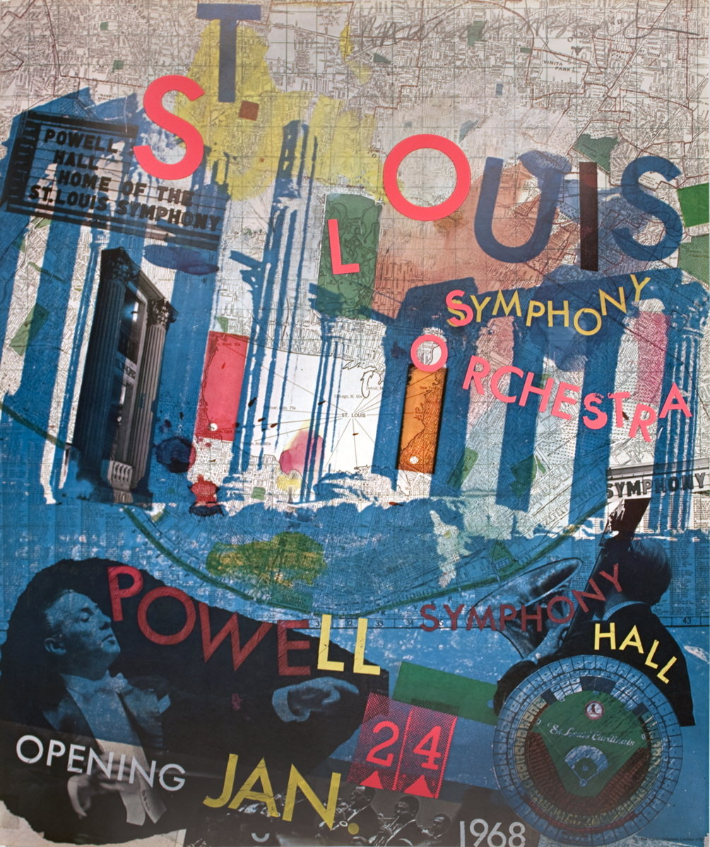 Rauschenberg Signed St Louis Symphony Hall Poster 1968 For Sale Price