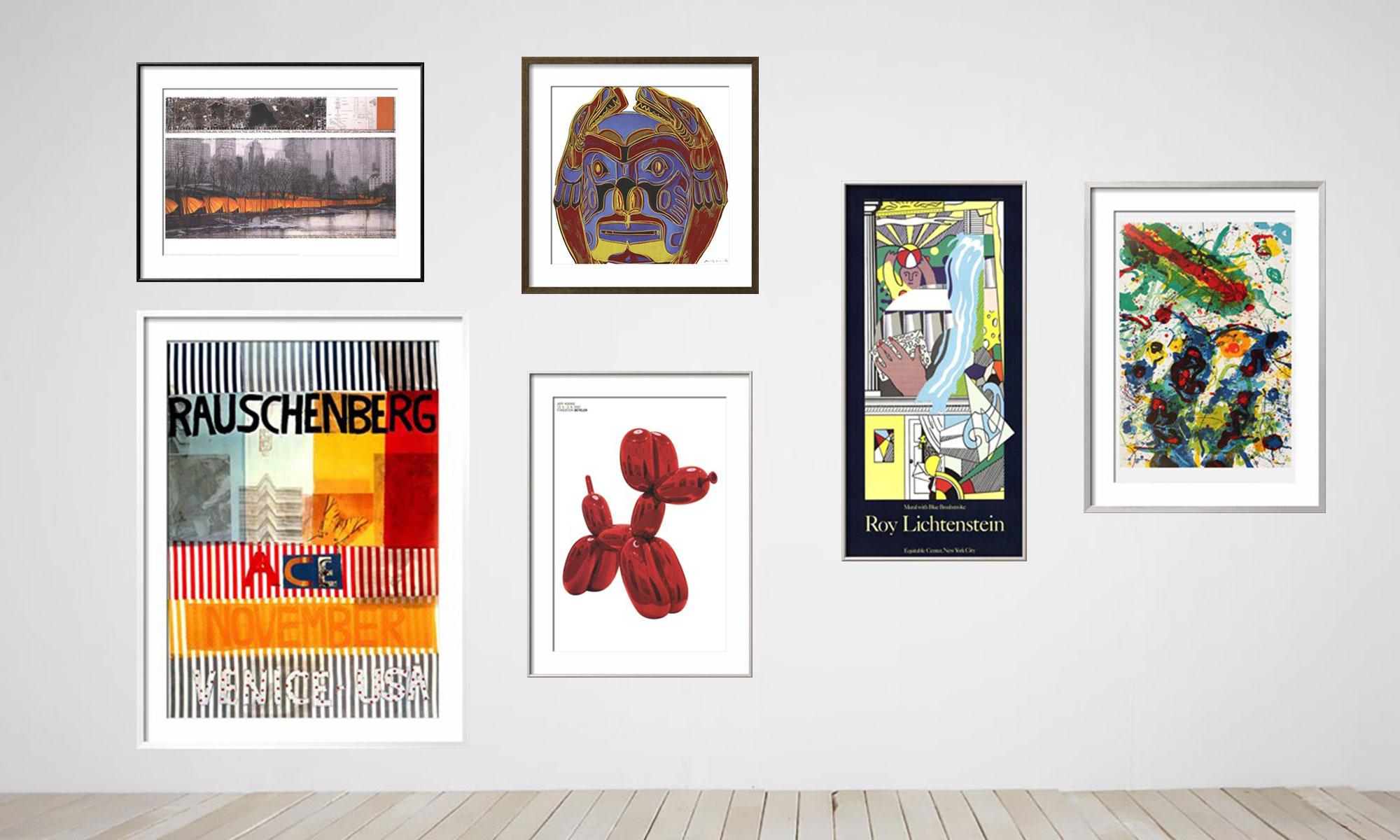 oversized large billboard impressive prints posters art for sale warhol lichtenstein christo rauschenberg koons dog