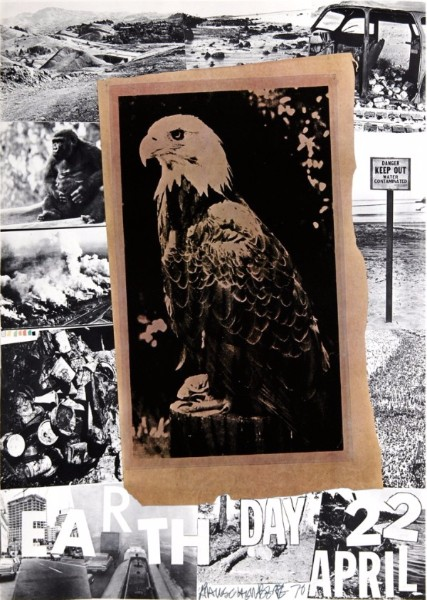 Robert Rauschenberg- Earth Day-SIGNED1970 art for sale price value