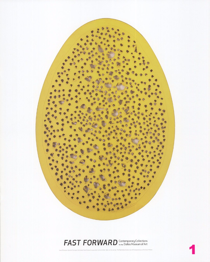 Lucio Fontana Spatial Concept End of God Yellow Poster