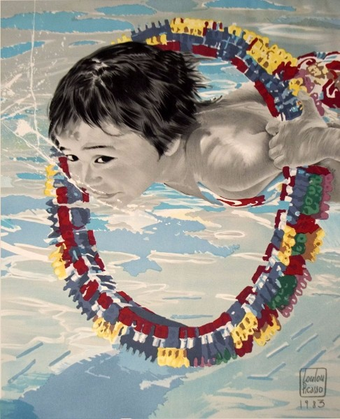 loulou picasso swimming poster agnes b