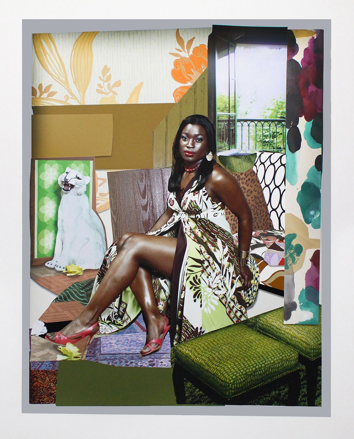 Mickalene Thomas Art For Sale I've been good to me Signed 2015 Price