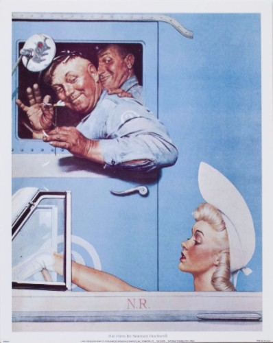 norman rockwell flirts poster