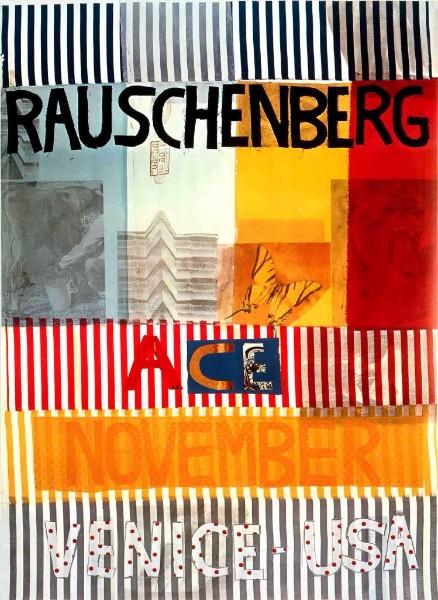 robert rauschenberg ace november gallery venice usa big large poster