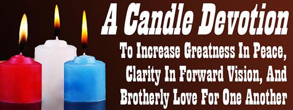 A Candle Devotion