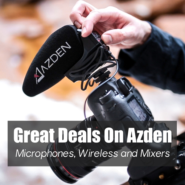 Great deals on Azden microphones, wireless and mixers.