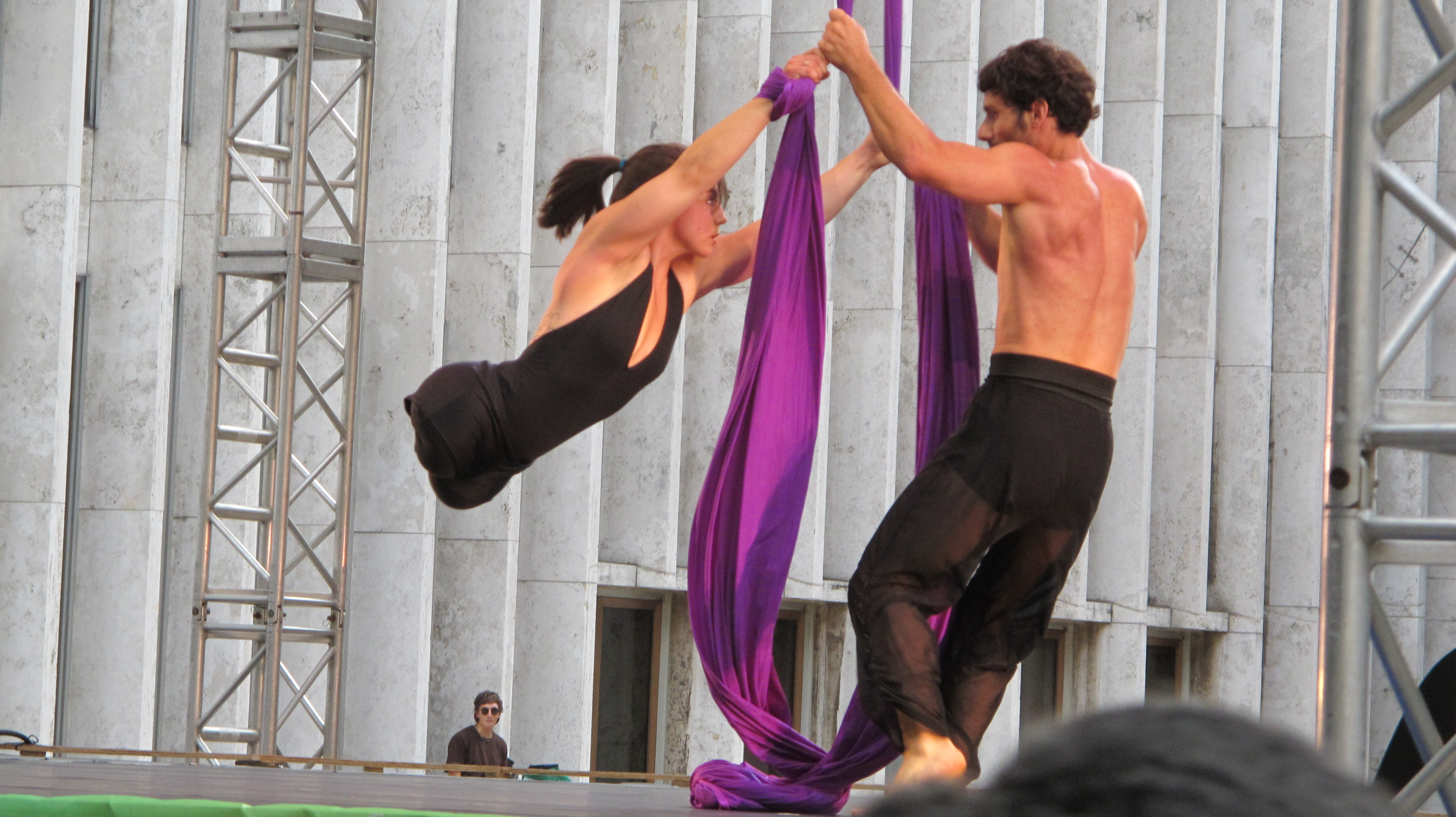 Disabled dancers perform on stage