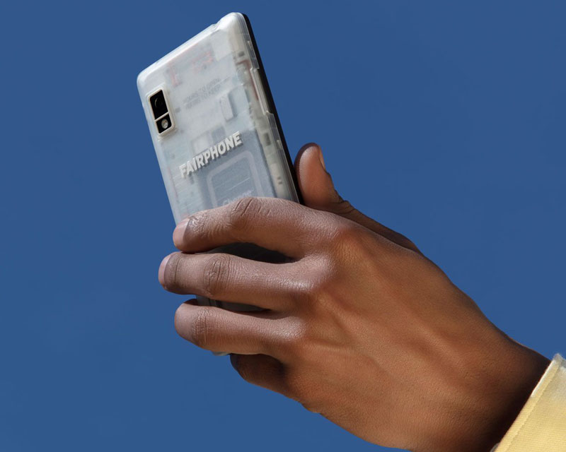 sustainable phone in hand