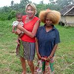 Anne with baby Kendall at Jack Village, Tanna Island, Vanuatu