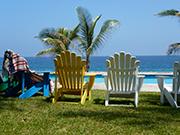 sitting in cape cod chairs at sanddollar, Vanuatu