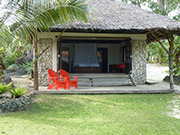 View of the sea front accommodation Fare, at Sanddollar Vanuatu