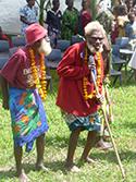 Photo of old men in Vanuatu attending the King of Tanna's celebration