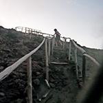 Climbing Mt Yasur, Tanna Island Vanuatu