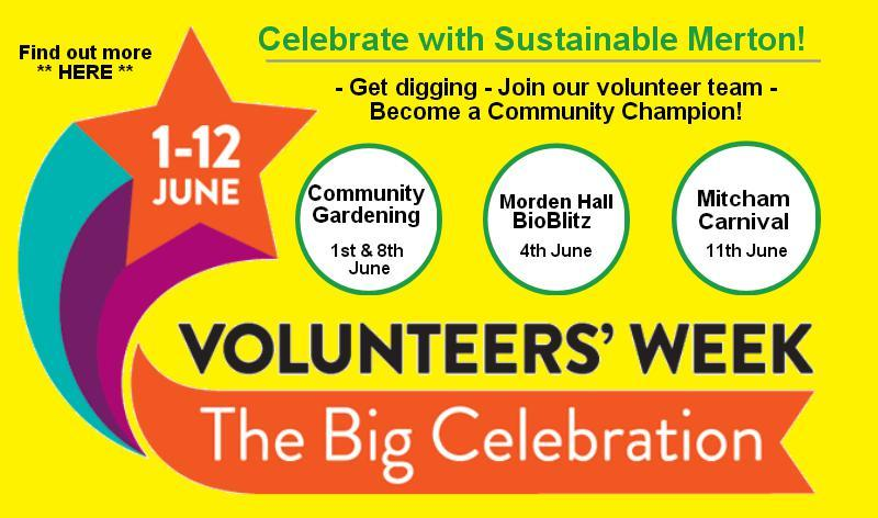 #IVolunteer ** Find out more about volunteering with Sustainable Merton! **