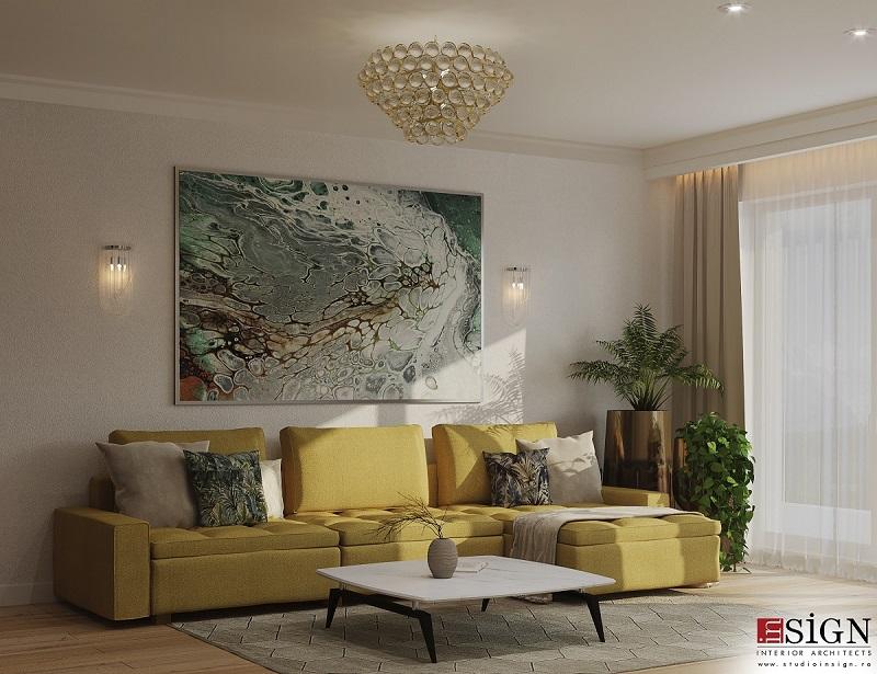 Design interior modern cu accente glamour 1