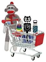 Shopping Sock Monkey